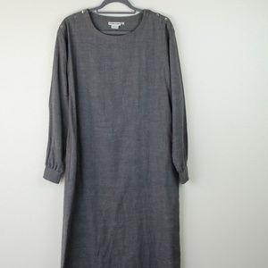 Vintage Calvin Klein | Gray Tunic Sheath Dress